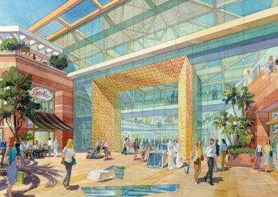 mall entrance view Dubai