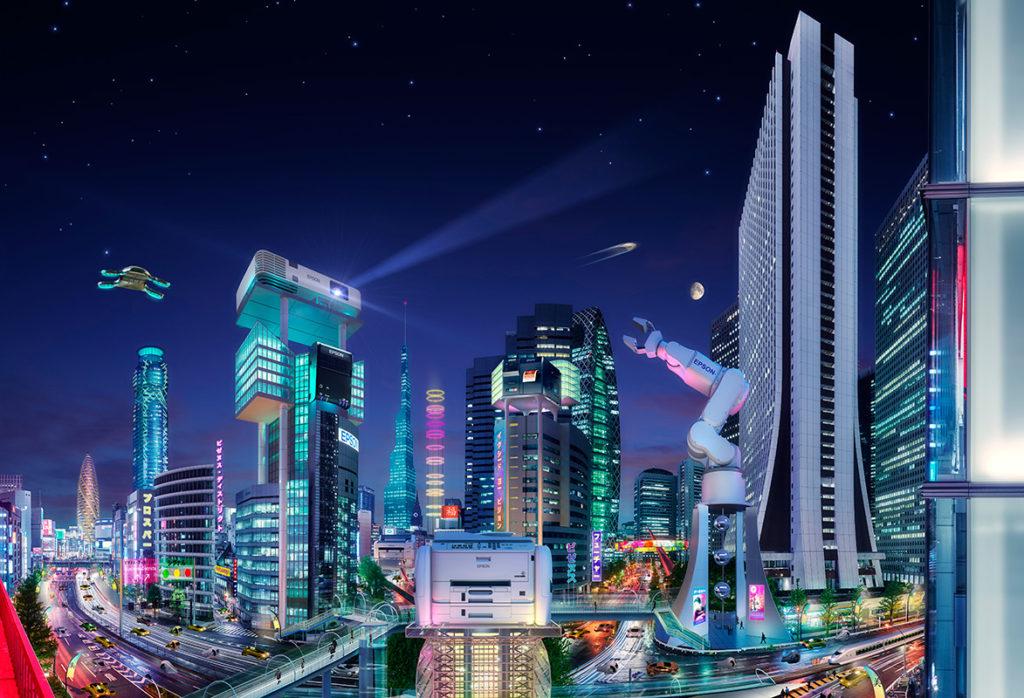 cg rendering Tokyo future city
