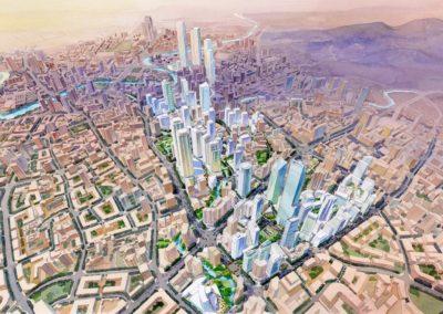 guiyang, china master plan birdseye view