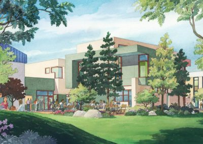 Classroom Building architectural rendering