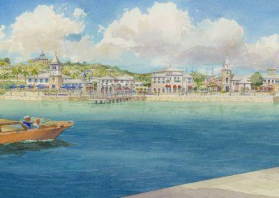 resort island village view