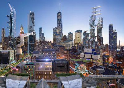 New York future city view