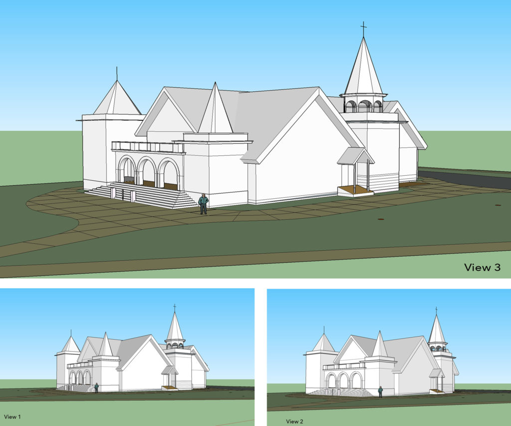 Chapel Modeled in Sketchup
