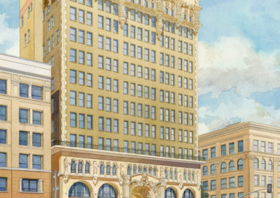 Million Dollar Theater, watercolor by J Messer