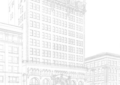 Million Dollar Theater layout drawing