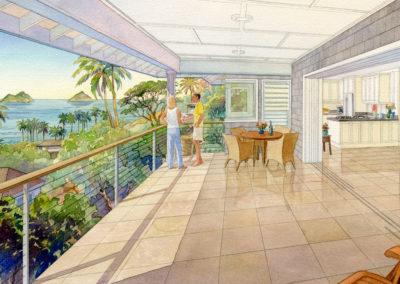 Balcony, Kailua