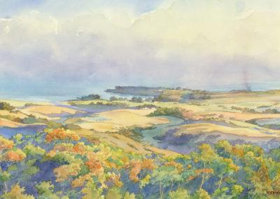 San Simeon Bay Watercolor