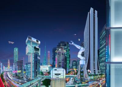 Tokyo concept art by Jon Messer.