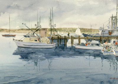 Fishing Boats, by J Messer.